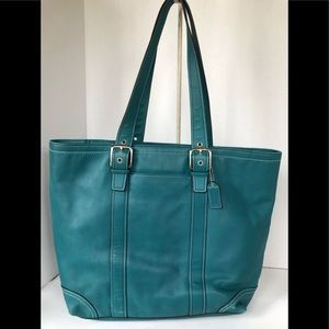 Coach Leather Shoppers Tote